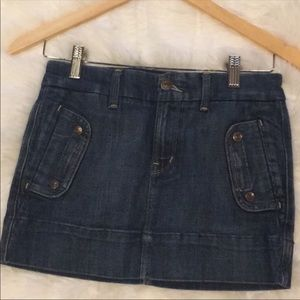 Citizens Of Humanity Denim Mini Skirt